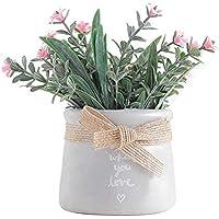 iPenty Flor Artificial Estilo Rural Flor Artificial Flor Falsa Pequeños Adornos Bonsai Hogar Sala de Estar Mesa Decoración de la Boda Decoraciones