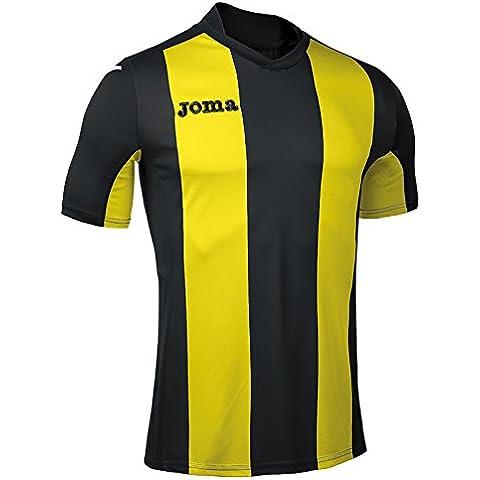Joma - Camiseta pisa v negro-amarillo m/c para hombre