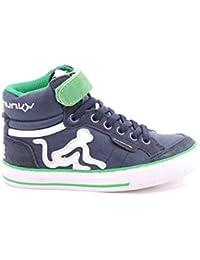 DrunknMunky Sneakers Navy Scarpe Bambino Ragazzo Boston Classic K04 b37c0983a68