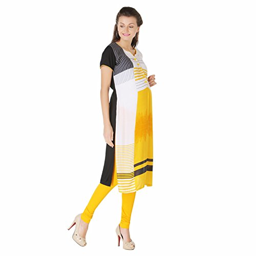Morph Maternity - Yellow Printed Nursing Kurta - Deserve To Be Pampered A Little Extra