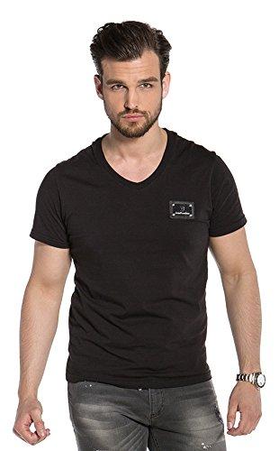 decadi couture V-Neck T-Shirt von Schwarz Schwarz