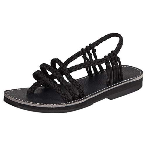 OHQ SandalesFemme BohèMe D'éTé Femmes Chaussures Peep-Toe...