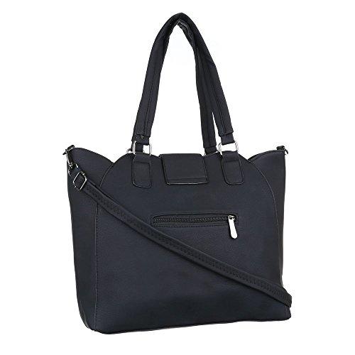 Damen Tasche, Schultertasche, Mittelgroße Handtasche, Kunstleder, TA-C510 Schwarz