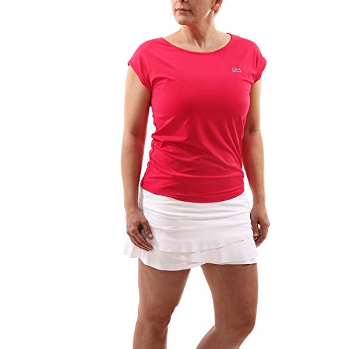 Sportkind Mädchen & Damen Tennis, Fitness, Sport Loose Fit T-Shirt, pink, Gr. 122