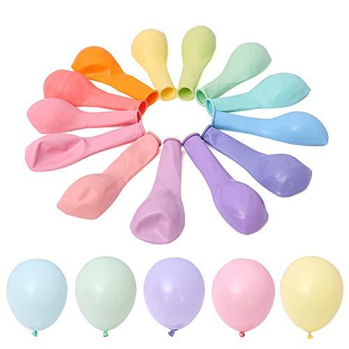 , 10 Zoll Bunte Luftballons im Rosa Blau weiß Rot etc, Ballons Party Dekorationen für Hochzeit Geburtstag Baby Shower Disney Princess Party Valentinstag ()