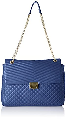 Valentino by Mario Valentino Damen Ritas Schultertasche, Blau (Blu), 9x38x38 cm