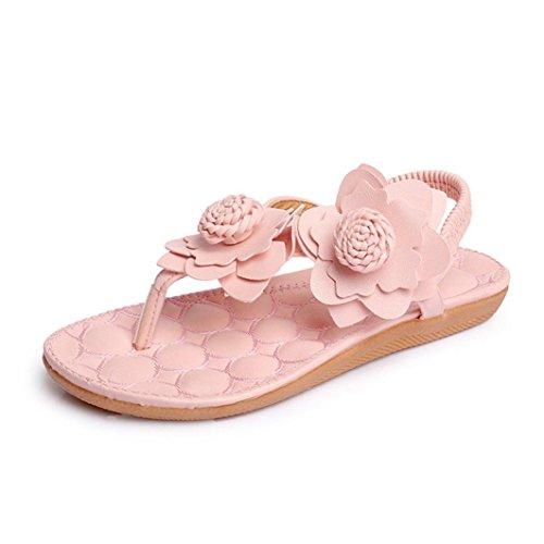 Sandales, Oyedens Sandales Femme été Clip Toe Shoes Décontractée Intérieur et Extérieur Sandales Tongs Chaussons de Plage Rose