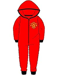 6a0681fb6 Kids Boys Girls Manchester United Football Onesie All in One Sleepsuit Man  United - Sizes 3