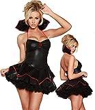 Erotic underwear-ZY Camicie da Notte da Donna Alta qualità da Donna Sexy Costume da Vampiro in Lattice di Cuoio Multistrato Abito di Pizzo Strega Esotica Halloween Travestimento Cosplay @ One_Size