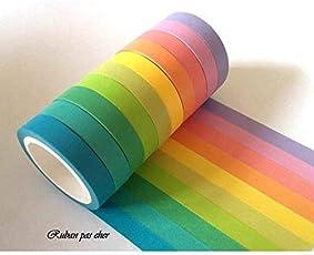 Pack of 10)-Plain Colours Masking tape