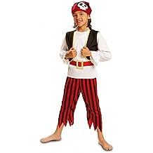 My Other Me - Disfraz de Pirata calavera para niños, talla 3-4 años (Viving Costumes MOM00571)