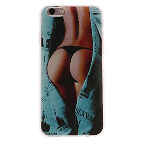 Coque iphone 6/6s, iphone 6/6s Etui TPU , Cozy Hut Sexy Ass Motif Mode Etui Coque TPU Slim pour iphone 6/6s (4.7 pouces) Mode Flexible Souple Soft Case Couverture Housse Protection Anti rayures Mince Transparent Silicone Cover Pour iphone 6/6s - sexy Girls