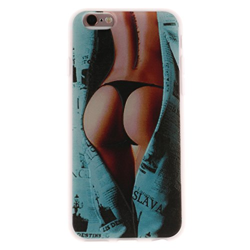 iPhone 6 Plus Hülle, Voguecase Silikon Schutzhülle / Case / Cover / Hülle / TPU Gel Skin für Apple iPhone 6 Plus/6S Plus 5.5(Angry Panda) + Gratis Universal Eingabestift Sexy Mädchen