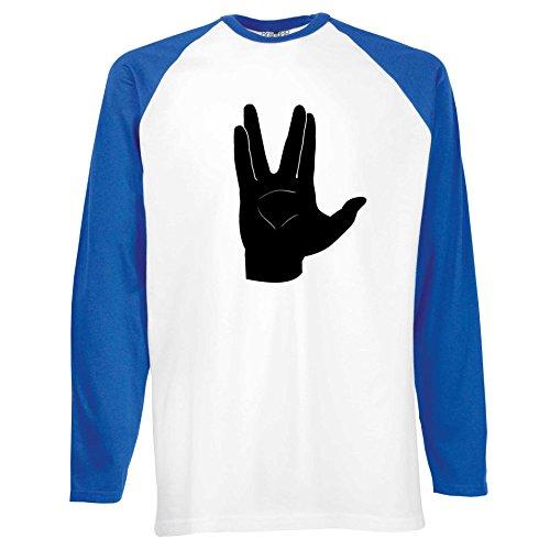 Brand88 - LLAP, Langarm Baseball T-shirt Weiss/blau/Schwarz