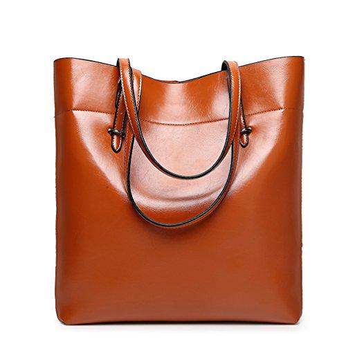 FAIRYSAN, Borsa tote donna Marrone marrón claro extra-large marrón claro