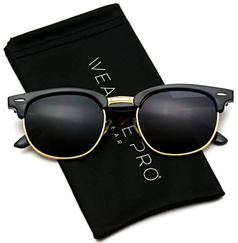 WearMe Pro - Klassische Halbrandbrille Polarisierende Halbrand-Sonnenbrille