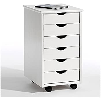 Rollcontainer metall ikea  IKEA HELMER Schubladenelement auf Rollen; in weiß: Amazon.de ...