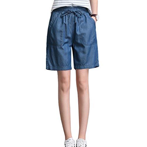 Tookang donna vintage stretch shorts in jeans pantaloni corti vita elastica boyfriend pantaloncini di denim