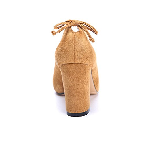 XTIAN - Scarpe con Tacco Donna Marrone