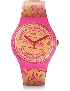 Swatch Suoz200 Futuring Von Eva & Adele, Die Rosa & Gold Armbanduhr Plastic
