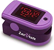 Zacurate Portable and Reliable Fingertip Pulse Oximeter, Accurate Heart Rate Monitor with Lanyard and Batterie