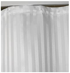 Shower Curtain White Stripes Jacquard # 72 x 80 inches # Eyelet pattern # Curtain Rings included # Keeps your bathroom dry, clean and hygienic # 100% Polyester Shower Curtains Bathrooms Long by TAG Products