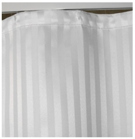 Shower Curtain White Stripes Jacquard # 72 x 80 inches # Eyelet ...