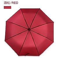 YUSANLIN Automatic Umbrella Three Elephants Windproof Waterproof Umbrella Gift Black