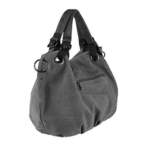 ae97fb5a493cc OBC Moderne Damen Tasche Canvas XXL Shopper Stofftasche Schultertasche  Umhängetasche Baumwolle Beuteltasche Strandtasche Bag Street Braun ...