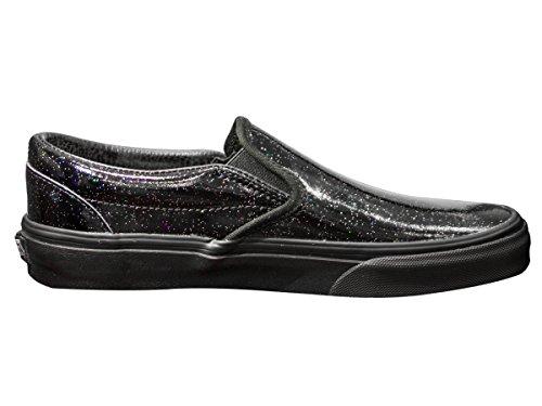 Vans Unisex-Erwachsene Classic Slip-On Patent Galaxy Black Black Schwarz