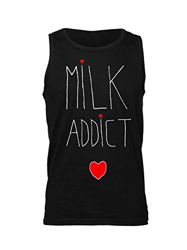 Milk Addict Painted Heart Artwork Men's Tank Top Shirt XX-Large
