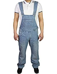 7407b6b3957 McCarthy Jeans Mens Denim Lightwash Blue Dungarees King Size Overalls