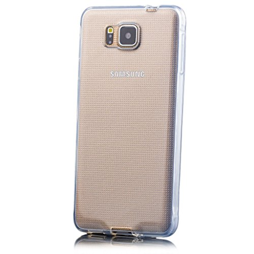 Samsung Galaxy Alpha | iCues transparente TPU Claro | Transparente lámina protectora caso de la piel Claro Claro gel de silicona transparente de protección [protector de pantalla, incluyendo] Cubierta Cubierta Funda Carcasa Bolsa Cover Case