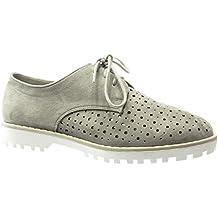 Amazon.es: Zapatos Tacon Ancho - Gris