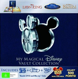 My Magical Disney Vault Collection - 8-Disc Box Set ( The Lion King / Beauty and the Beast / Bambi ) ( King of the Jungle / Beauty & the Beast / Walt Disney's [ Blu-Ray, Reg.A/B/C Import - Australia ]
