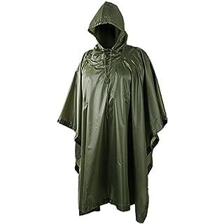 REJS Kapuzen-Poncho-Jacke für Camping, Angeln, Festivals von AJS (Khaki)