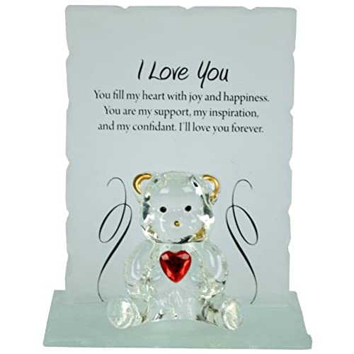 Love you gifts amazon bargains galore engraved glass crystal bear gift set poem poetic writing message i love you negle Gallery