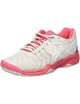 Asics Unisex-Kinder Gel-Resolution 7 Gs Turnschuhe, Rosa