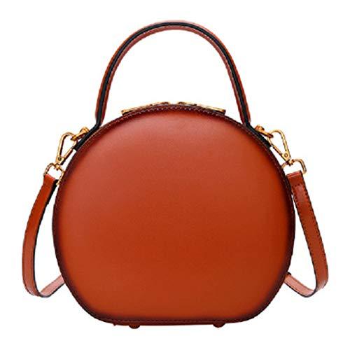 Runde Handtaschen für Frauen Umhängetasche Umhängetasche Kunstleder Designer-Handtaschen Große Umhängetasche Hobos Bag -