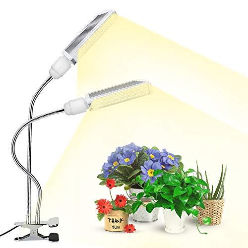 120W LED Cultivo Interior, Lámpara de Plantas 90LED con Atenuación Nivel 10, Espectro Completo, 5400lm, Bombilla Reemplazable E27 Grow Light para Siembra Crecimiento Floración y Fructificación