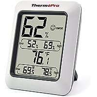 thermopro TP50 Termometro Igrometro Termoigrometro Digitale Misura la Temperatura e l'Umidità per Interni