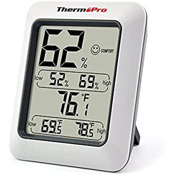 ThermoPro TP50 digitales Thermo-Hygrometer Raumklimakontrolle Raumluftüerwachtung