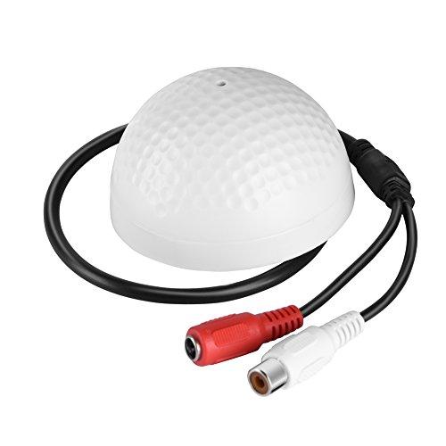Zerone Mikrofon Audio Tonabnehmer Gerät für Sicherheit Kamera, 100Quadratmeter Breit Reihe Hoch empfindlicher Audio-Überwachung Mikrofon für CCTV Sicherheit