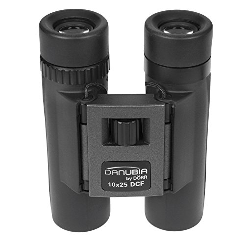 Dörr Danubia 544261 40 10x25 Dachkant Pocket Fernglas durchmesser, 25 mm schwarz/metallic/grau