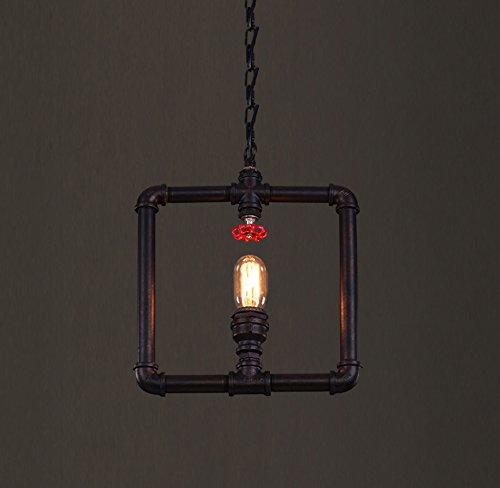 ANDEa Retro- Wasser-Rohr-Leuchter, Loft-Industrien-Restaurant-Kunst-Beleuchtungs-Bar-Internet-Projekt-dekorative Lampen-Eisentreppen-Gang-Wasser-Rohr-Hängeleuchte-einzelne Hauptlager-Technik-hängende Lampe E27 120cm justierbare hängende Kette 30 * 39CM Originalität ( größe : 30*39CM )