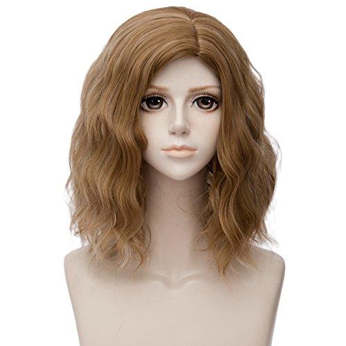Fantasy closet lolita - parrucca per halloween, lunghezza media, con parrucca gratuita, 35 cm