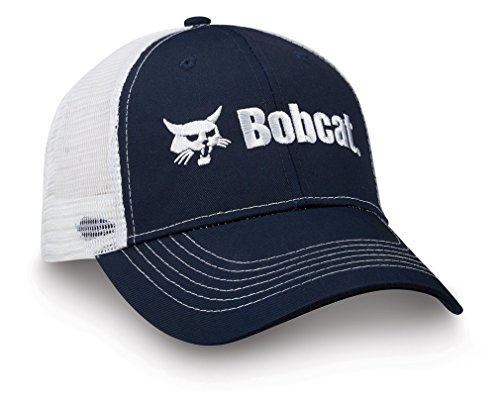 bobcat-250376-navy-blue-white-one-size-cap-front-panel-mesh-back-by-bobcat