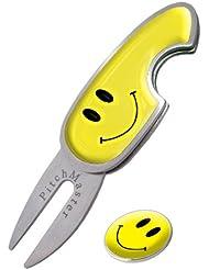 Asbri Golf Pitchmaster - Arreglapiques de golf, color amarillo