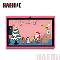 "Haehne 7"" Tablet PC, Google Android 9.0 GMS, 1024*600 HD Display Screen, 1GB+16GB Quad Core, Dual Cameras 2.0MP+0.3MP, WiFi, Bluetooth"