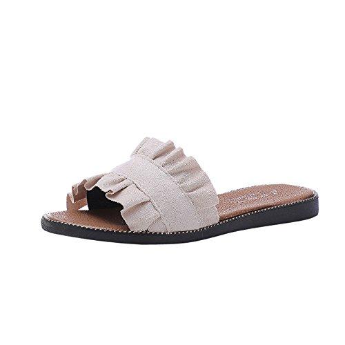 Sandales Ete, Sandales Plastique Sandales De Plage,Kinlene Femmes Solid Couleur IntéRieur ExtéRieur Talon Sandales Pantoufles Chaussures De Plage